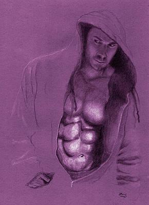 Hoodies Drawing - Lurking by Mon Graffito