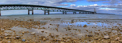 Mackinac Bridge Print by Twenty Two North Photography