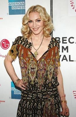 Tribeca Film Festival Premiere Photograph - Madonna Wearing A Gucci Dress by Everett