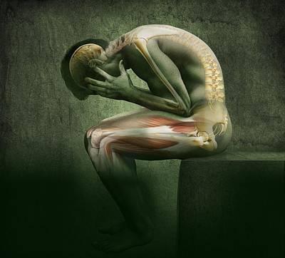 Main In Pain, Artwork Print by Claus Lunau