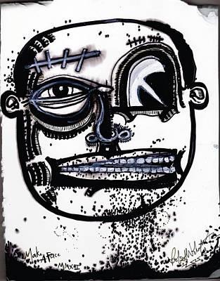 Folk Art Mixed Media - Make A Face by Robert Wolverton Jr