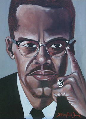 Malcolm X  Print by Steven Jones