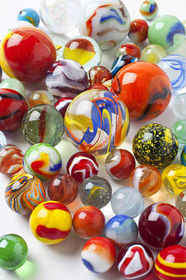 Many Beautiful Marbles Print by Garry Gay