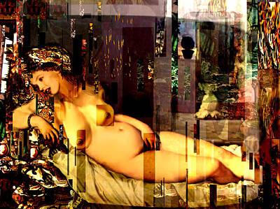 Marilyn Monroe Nude In Opium House Print by Karine Percheron-Daniels