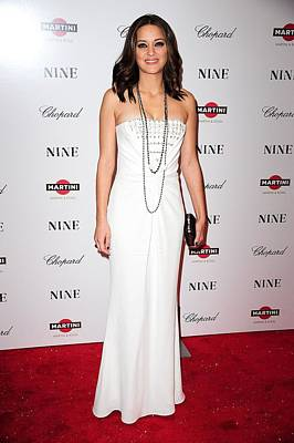 Long Necklace Photograph - Marion Cotillard Wearing A Dior Gown by Everett