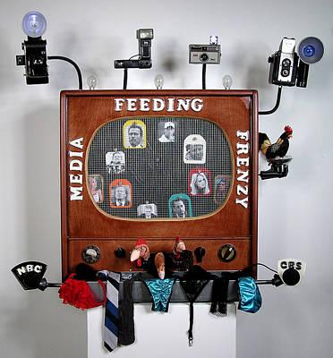 Media Feeding Frenzy Original by Bill Czappa