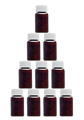 Medicine Bottles, Artwork Print by Victor De Schwanberg