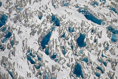 Meltwater Lakes On Hubbard Glacier Print by Matthias Breiter