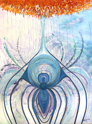 Web Of Life Painting - Messages From The Cosmos by Judy M Watts-Rohanna