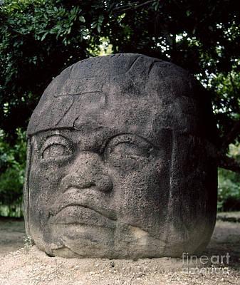 7th Century Photograph - Mexico: Olmec Head by Granger