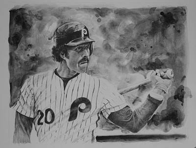 Phillies Drawing - Michael Jack by Paul Autodore