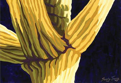 Saguaro Painting - Midnight Sky by Sandy Tracey