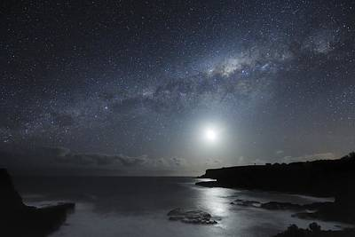 Milky Way Over Mornington Peninsula Print by Alex Cherney, Terrastro.com