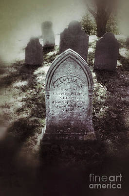 Misty Graveyard Print by Jill Battaglia