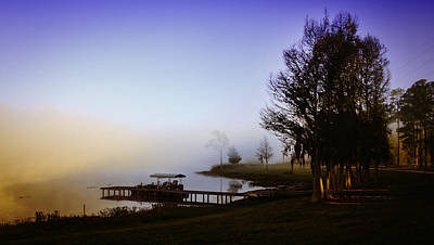 Misty Morning On Lake Jaunita Print by Lynn Palmer
