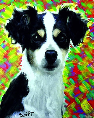 Dog Painting - Mixed Breed Dog by Char Swift