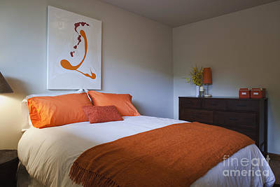 Modern Bedroom Interior Print by Inti St. Clair