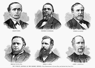 Mormon Apostles, 1877 Print by Granger