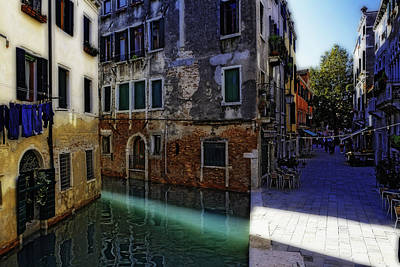 Morning Light In Venice Print by George Oze