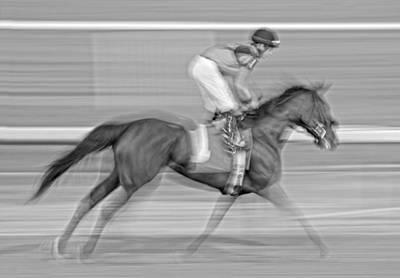 Jockey Photograph - Motion  by Betsy C Knapp