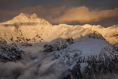 Mount Rolleston At Dawn Arthurs Pass Np Print by Colin Monteath