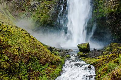 Up201209 Photograph - Multnomah Falls  by Josh Whalen