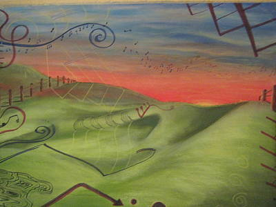 Landscape Mixed Media - Music Transformation No.2 by Casey P