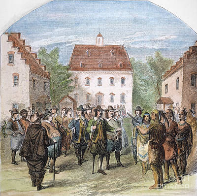 New Amsterdam, 1660 Print by Granger
