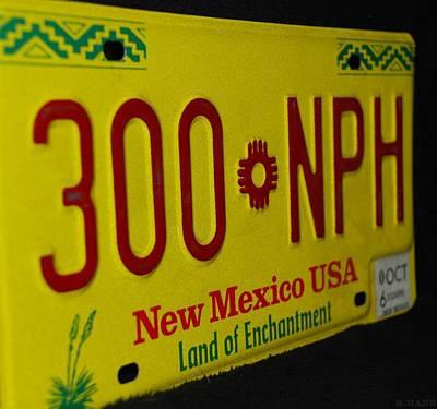 New Mexico Tag Print by Rob Hans
