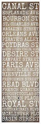 New Orleans Streets Print by Susan Bordelon