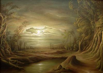 Tablou Painting - Night Scene by Dan Scurtu
