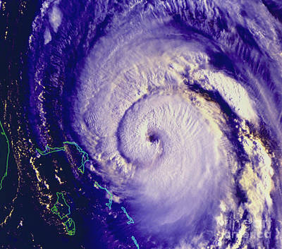 Noaa Photograph - Noaa Satellite Image Of Hurricane Fran by NASA / Science Source