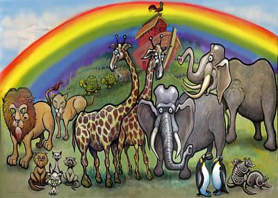 Noah's Ark Print by Kevin Middleton