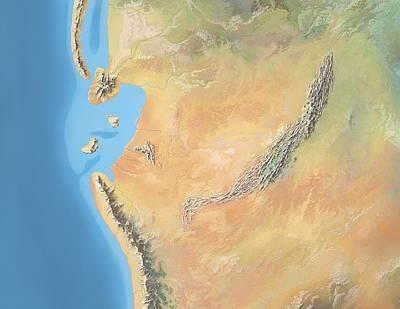 Triassic Photograph - North America, Triassic Period by Gary Hincks