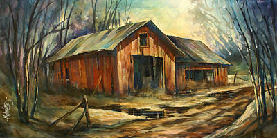 Barn Wood Painting - 'north Country' by Michael Lang