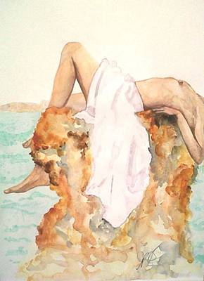 Painting - Nude Rock I. by Paula Steffensen
