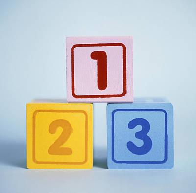 Number Blocks Print by Cristina Pedrazzini