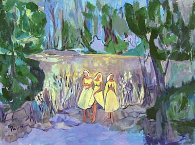 Nuns In The Moonlight Original by Betty Pieper