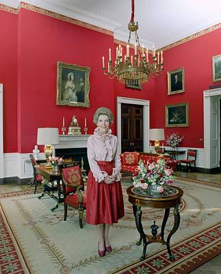 Official Portrait Of First Lady Nancy Print by Everett