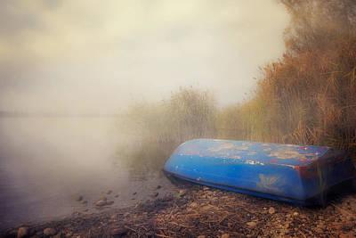 Old Boat In Morning Mist Print by Joana Kruse