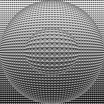 Optical Illusion Circle In Circle Print by Sumit Mehndiratta