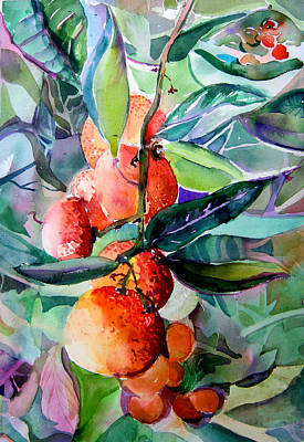 Snack Drawing - Oranges by Mindy Newman