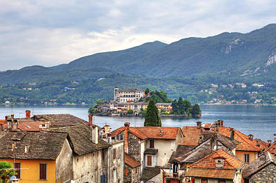 Old House Photograph - Orta - Overlooking The Island Of San Giulio by Joana Kruse