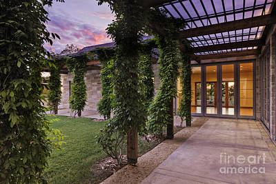 Outdoor Walkway On A Modern Home Print by Jeremy Woodhouse