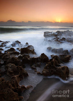 Overwhelmed By The Sea Print by Mike  Dawson