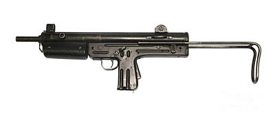 Pa3-dm Argentine 9mm Submachine Gun Print by Andrew Chittock