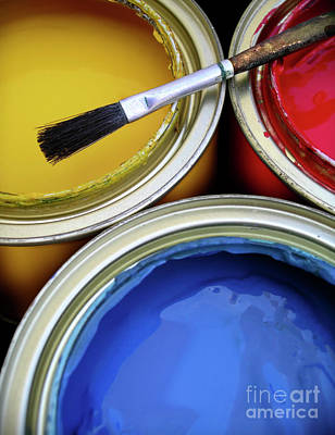 Indoor Photograph - Paint Cans by Carlos Caetano
