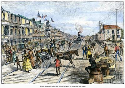 Telephone Poles Photograph - Panama Railway, 1888 by Granger