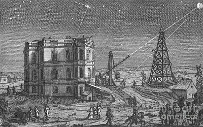 Paris Observatory, 17th Century Print by Science Source