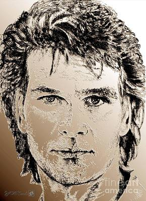 Mccombie Mixed Media - Patrick Swayze In 1989 by J McCombie